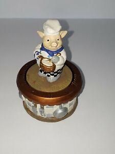 Vintage-Boston-Warehouse-Pig-Chef-Tick-Tock-Kitchen-Timer-Paperweight-Rare-Nice