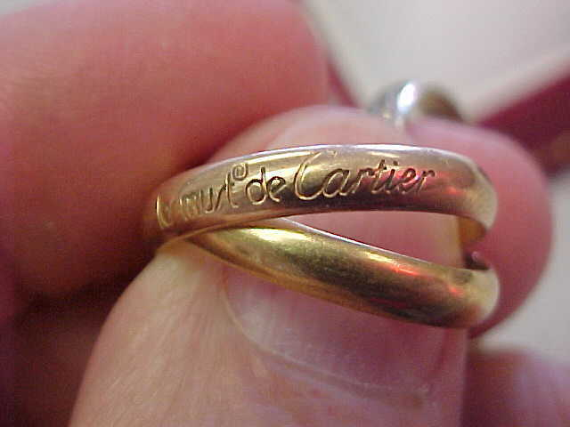 Cartier Trinity 3 color gold  Ring  size 53 or 6-1 2   with Box   Make Offer