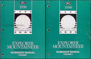 1998 ford explorer mercury mountaineer shop manual set. Black Bedroom Furniture Sets. Home Design Ideas