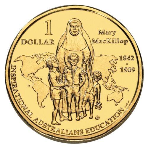 2008 $1.00 St Mary MacKillop Inspirational Australian 1st AUSTRALIAN SAINT BU