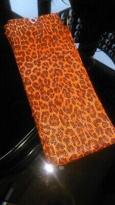 Intellective Stampa Leopardata Arancio Sparkle Scaldamuscoli ???? Premium Quality ???? Soft Knit 60cms-mostra Il Titolo Originale