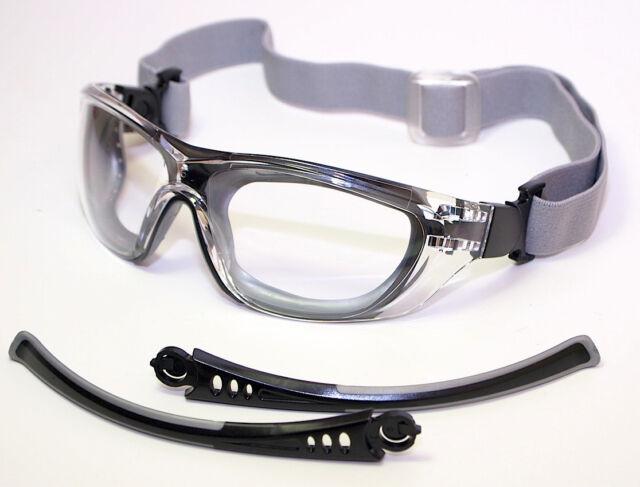 2 x Schutzbrillen Vollsichtbrille Dual-Funktionsbrille Bügel/Gummiband  Neui