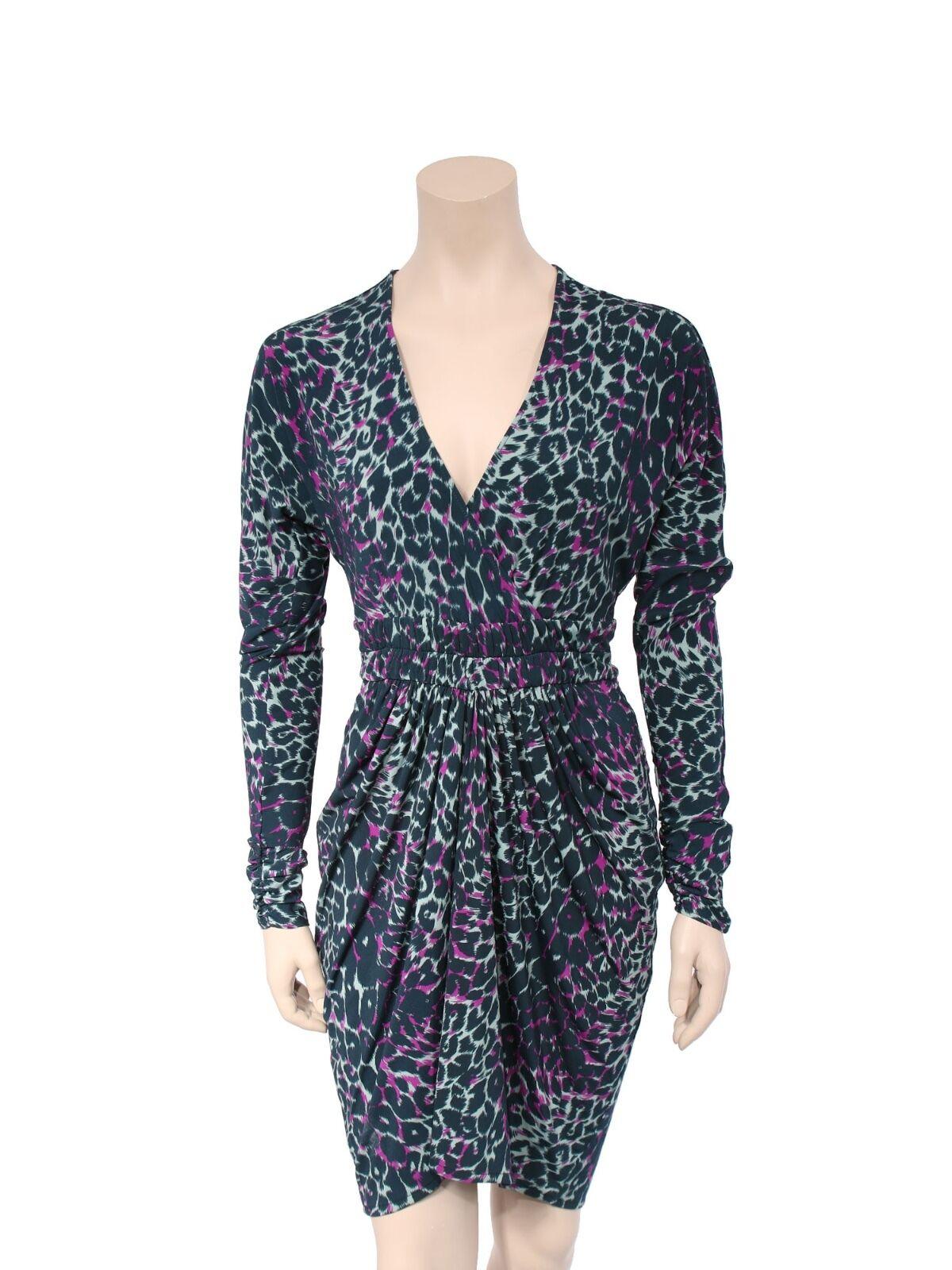 BCBG MAXAZRIA Leopard Jersey Dress (SIZE S)