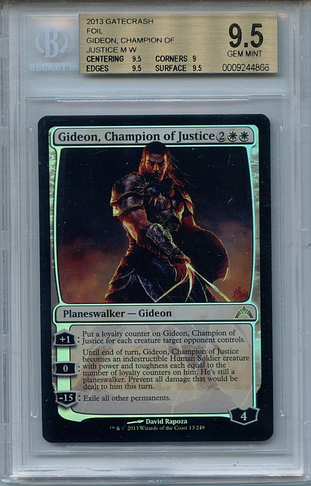 Mtg gideon champion justiz bgs 9,5 gatecrash mystische folie magische karte amricons