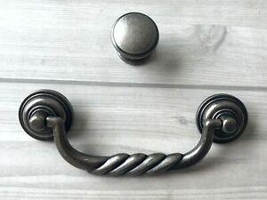 "4 1//2/"" Drop Bail Drawer Knob Cabinet Dresser Pull Antique Black Bronze 4.5/"" 115"