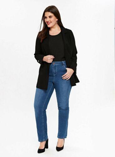EX Evans Mid Wash Jeans Gamba Dritta Tg 14-32 RRP £ 24 Breve//Regolare//Lungo
