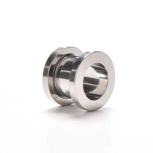 Ear Expander Stainless Steel Screw Ear Plug Tunnel Stretcher Flesh Gauge zx