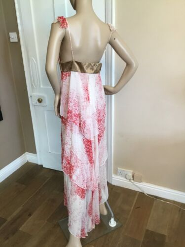 Mid amp; Sass Calf Silk 8 Dress Long Uk Bide Sydney Women's Maxi Size 100 x6fdqfgI