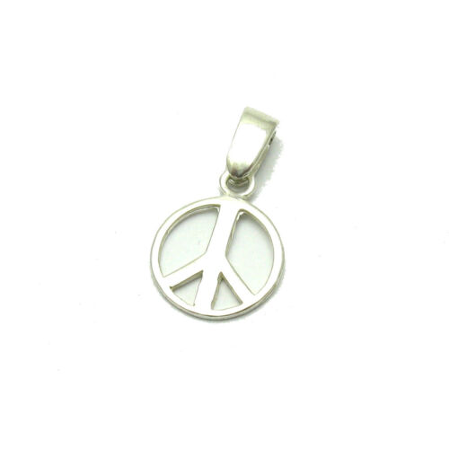 STERLING SILVER PENDANT CHARM PEACE SIGN SOLID 925 PE001133 EMPRESS