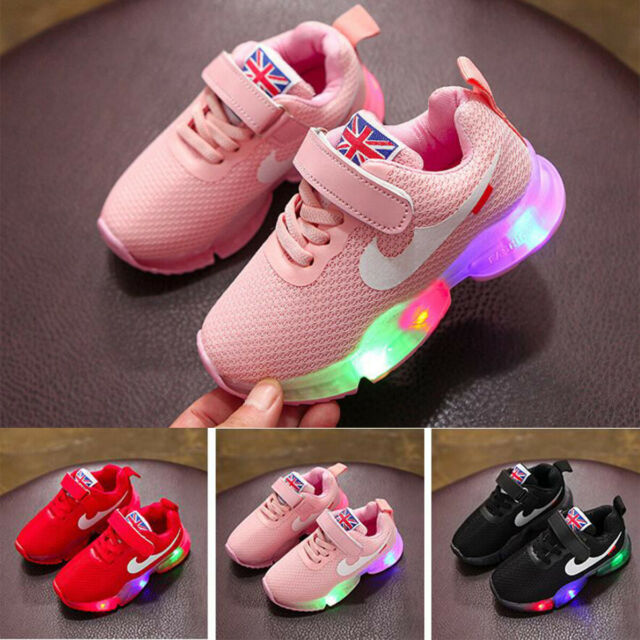 light up infant trainers