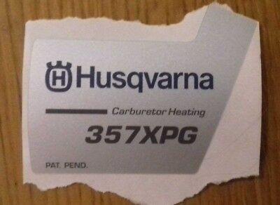 New Original Husqvarna OEM 357  XPG carburetor heating sticker decal 537324803