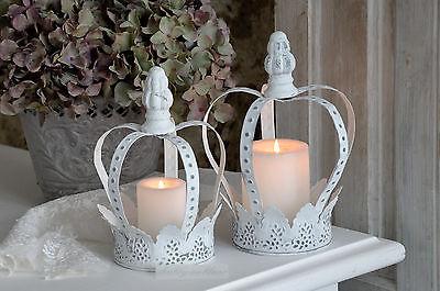 Metallkrone Krone Kerzenleuchter groß Shabby Chic Landhaus Vintage Brocante