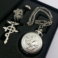 Fullmentle Alchemist Pocket Watch Necklace Ring Edward Elric Anime cosplay Gift