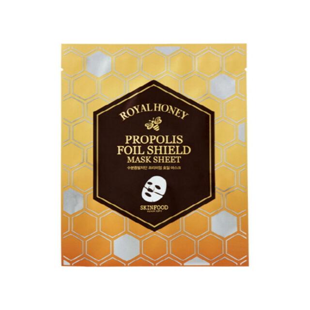 SKINFOOD NEW! Royal Honey Propolis Foil Shield Mask Sheet 25g - Korea Cosmetic