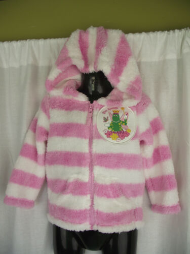 BNWT Pink//White Dorothy The Dinosaur Girls Sz 4 Fuzzy Zip Front Hoodie Jacket