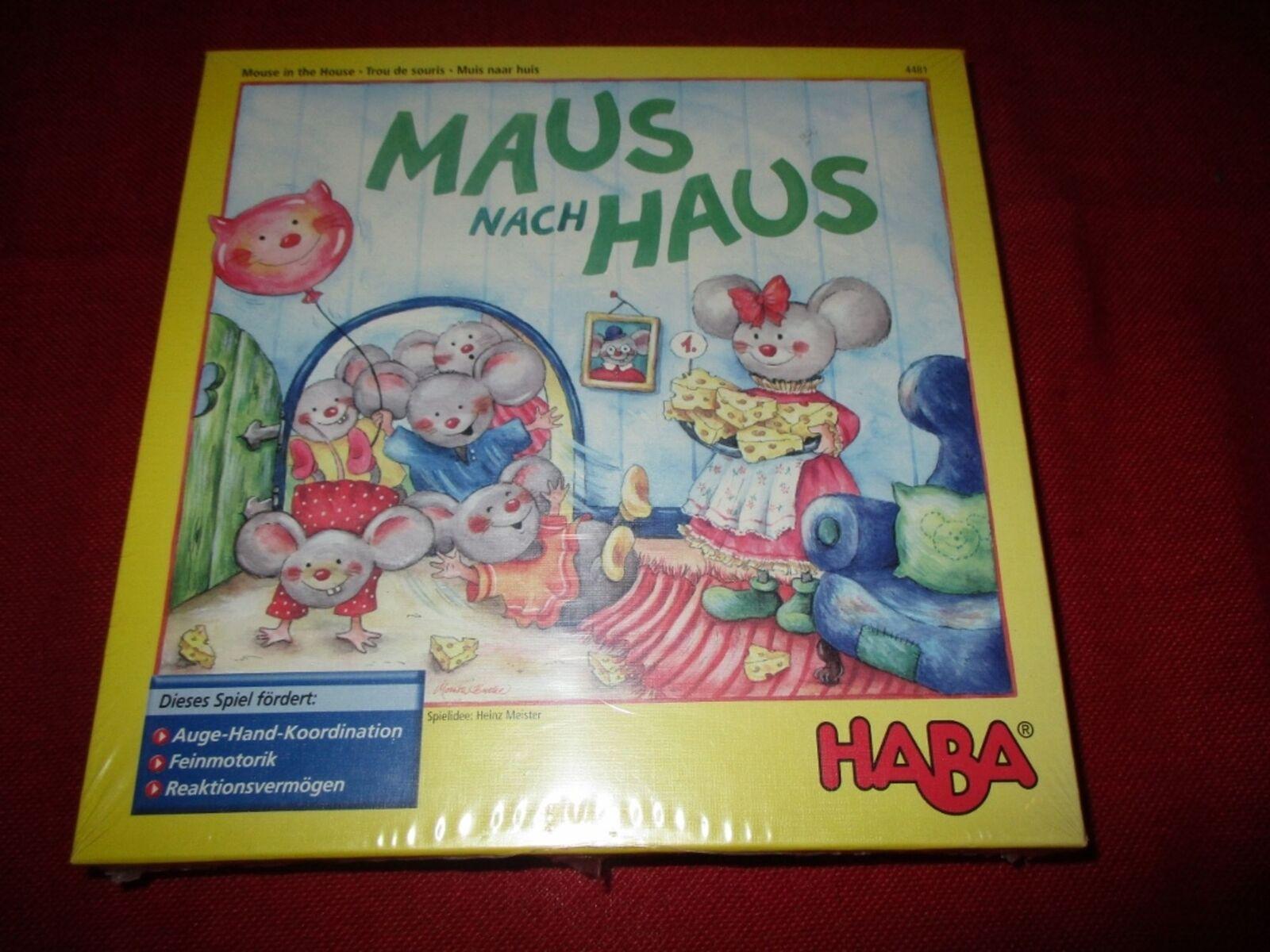 Haba ® 4481 schnippspiel souris vers Maison Nouveau neuf dans sa boîte