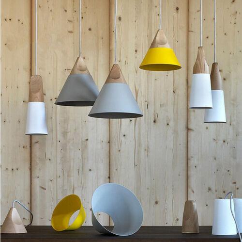 Kitchen Pendant Light Bar Lamp Modern Ceiling Lights Home Wood Pendant Lighting