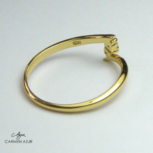 Two Crystals Ladies New with Gift Bag 18ct Gold on 925 Sterling Silver Toe Ring