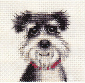 Miniature Schnauzer Dog Cross Stitch Kit