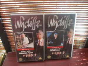 Wycliffe-VHS-Video-Tapes-set-of-Two-Wild-Oats-Seen-a-Ghost-Breaking-Point
