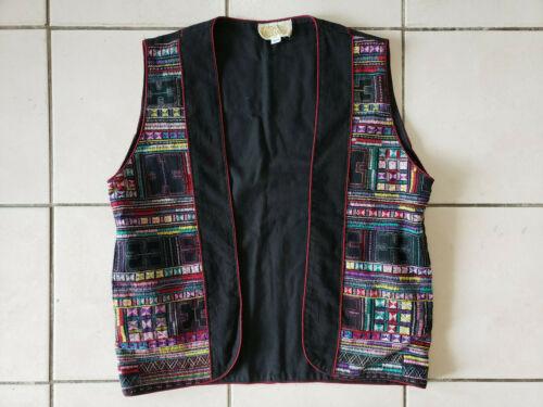 Vintage Laise Adzer Open Embroidered Vest, XL-XXL