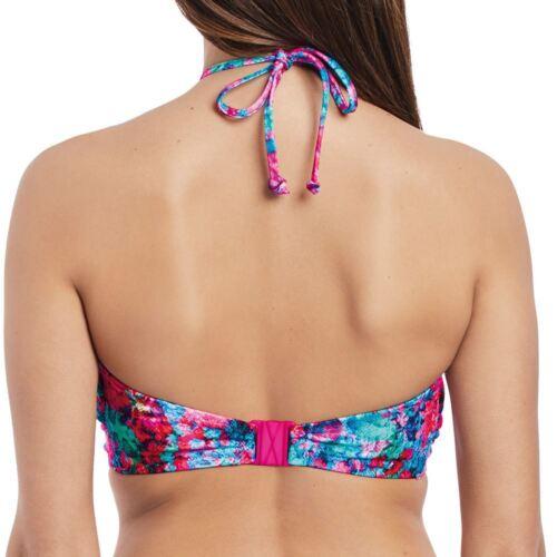 Freya Swimwear Mamba Twist Front Padded Bandeau//Strapless Bikini Top Multi 2941