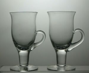 Dartington-Crystal-Irish-Coffee-Cups-Glasses-Set-of-2-With-Handle