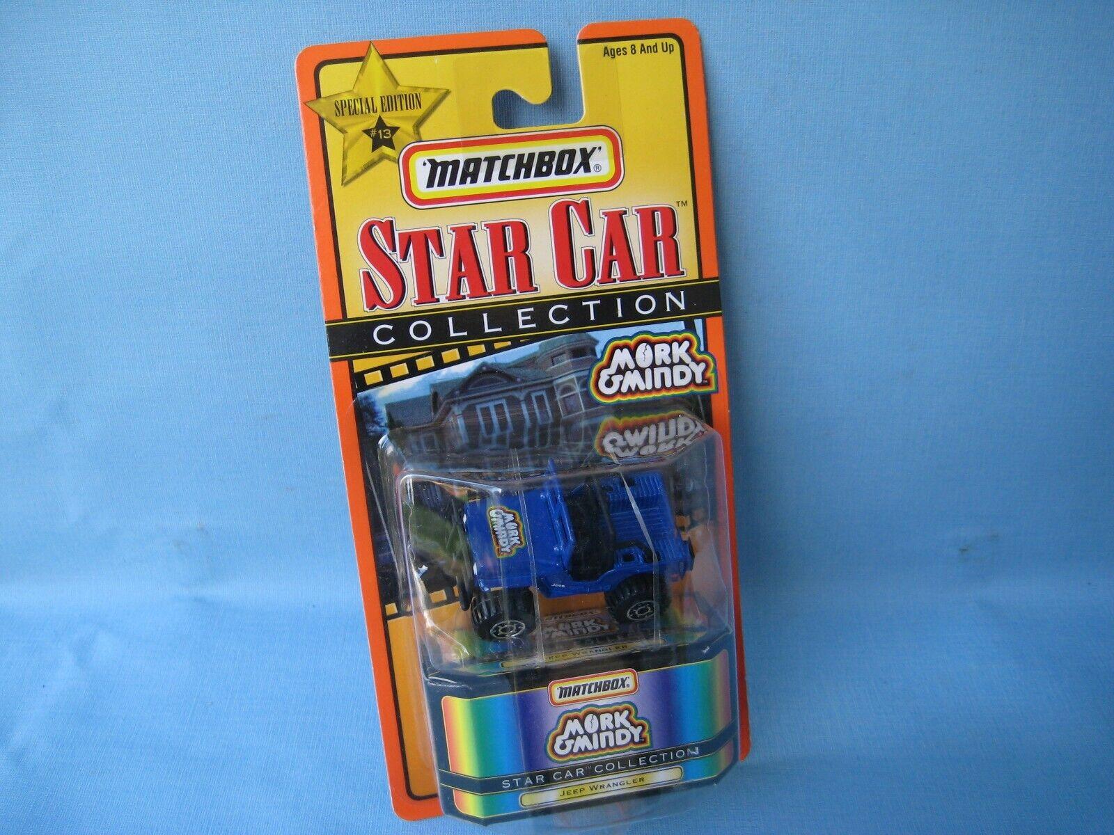 Matchbox Star Car Mork & Mindy Mindy Mindy Jeep 4x4 bluee 55mm Long TV Show Williams 42dd5f