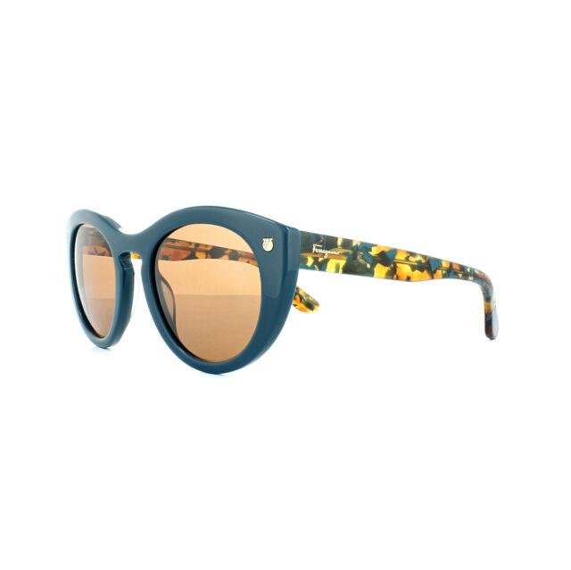 1df6b1b22fdd Salvatore Ferragamo Sunglasses Sf773s 416 Petrol Blue Pattern Brown ...