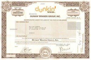 Dunkin-Brands-Group-Inc-gt-Dunkin-Donuts-Baskin-Robbins-stock-certificate