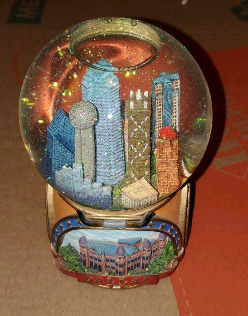 Dallas Water Company >> Dallas Texas City The San Francisco Music Box Company Snow Globe Water Globe