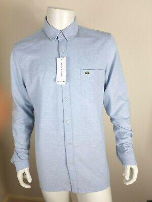 XXL RRP £100 Blue S LACOSTE Men/'s Long Sleeve Slim Fit Stretch Shirt White