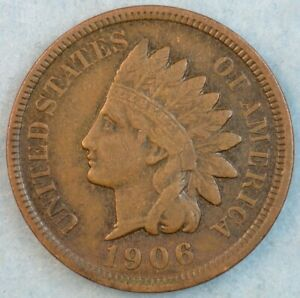 1906 Indian Head Cent Penny Liberty Very Nice Vintage Old Coin Fast S&H 34005