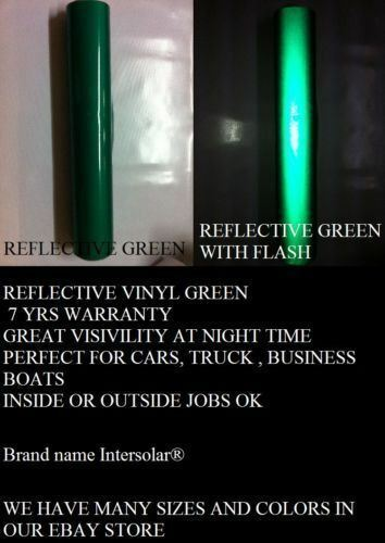 "Green Reflective 24/""x 25 Feet Vinyl Adhesive Sign Plotter Hight Reflectivity"