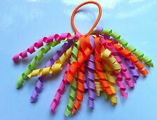Gymboree Girls Hair Bobble / Tie - Pink, Purple, Orange and Green - Brand New