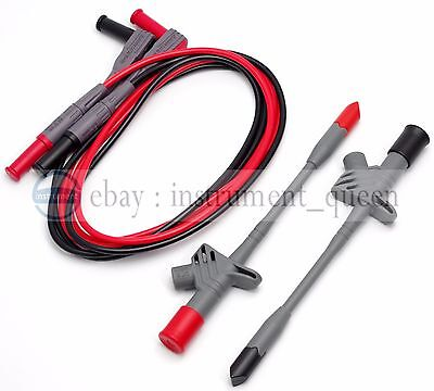 High quality Insulated Piercing Test Clips Probe With 16A Silicone Test Leads