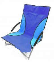 31b0fb7223 Coleman Blue Low Recliner 5 Position Folding Beach Camping Chair for ...