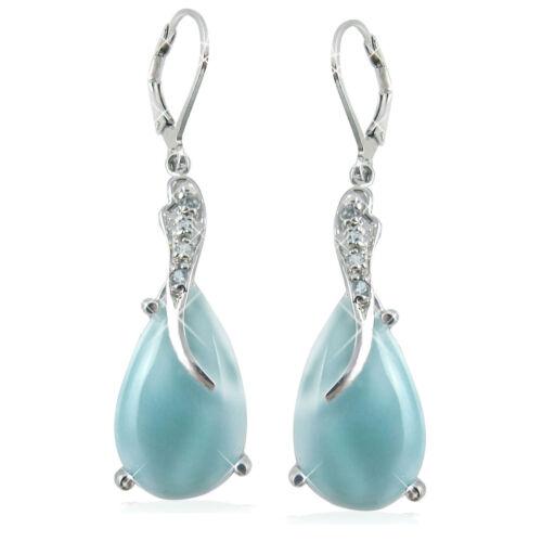 Sterling Silver Larimar Earrings BTS-NEA3055//LR//SBT//R