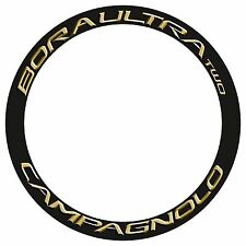 CAMPAGNOLO BORA ULTRA TWO GOLD 3D DESIGN REPLACEMENT RIM DECAL SET FOR 2 RIMS