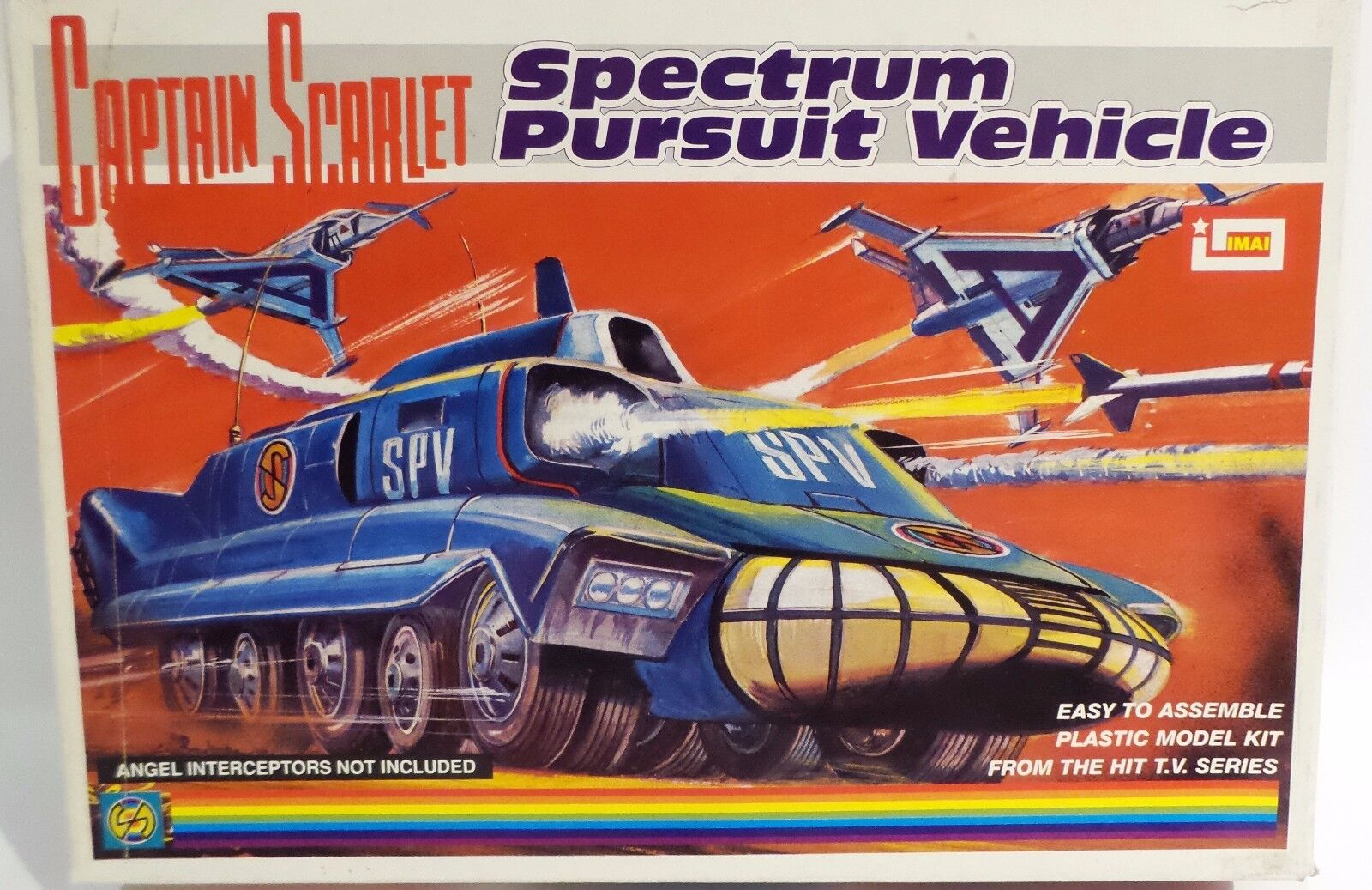 CAPTAIN SCARLET : SPECTRUM PURSUIT VEHICLE BOXED PLASTIC MODEL KIT MADE BY IMAI