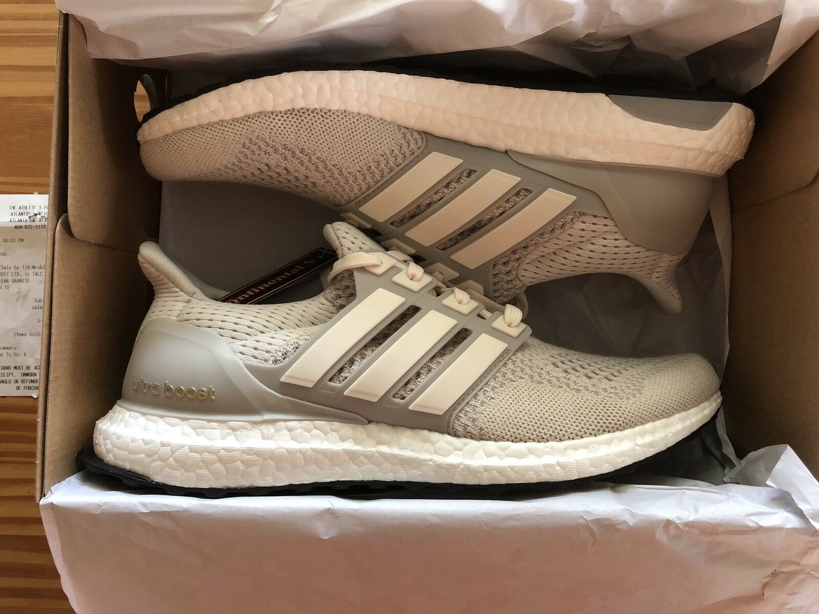 reputable site c2e4d 31225 Adidas Ultra Boost 1.0 LTD LTD LTD Cream Chalk AQ5559 PK UltraBoost Size 10  Deadstock 7161f2