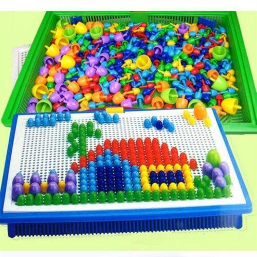 296 Peças conjunto//caixa-embalado Grão unha cogumelo Miçangas inteligente Jogos Quebra-cabeça 3D