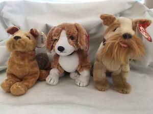 Ty Beanie Babies Whiskers, Sidekick & Schnitzel Dogs (set of 3) NWT