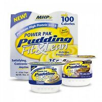 Mhp Fit & Lean Power Pak Pudding 4 Cups Of 4.5 Oz Protein Puddings Choose Flavor