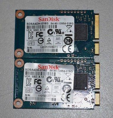 Lot of 5 x SanDisk 16GB mSATA SSD