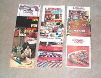 1970-1979 Lionel Trains Consumer Catalogs Mint