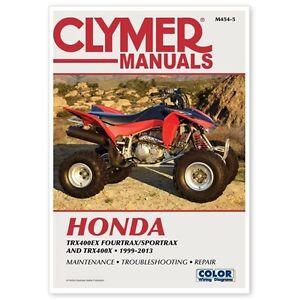 clymer atv repair service manual honda fourtrax sportrax trx400ex rh ebay com honda trx400ex service manual free 400ex service manual pdf