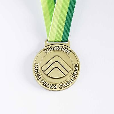 Competente Yorkshire Tre Picchi Sfida Medaglia-mostra Il Titolo Originale