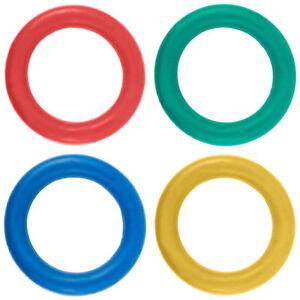 Tennikoit-Ring-Garden-Throwing-Game-Sponge-Assorted-Colour-Rubber-Quoits-Pk-Of-4