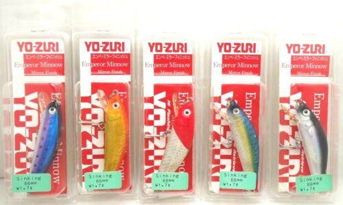 1pc Yo-zuri Emperor Minnow Trout Pike Sinking Lure 66mm 7g F230 Chose Color
